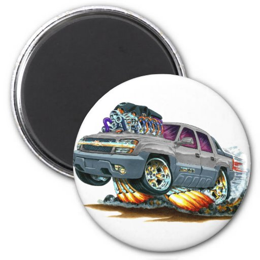 Avalanche Grey Truck Fridge Magnets