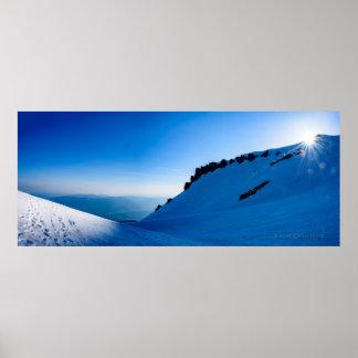 Avalanche Gulch - Mt. Shasta Poster