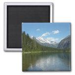 Avalanche Lake I in Glacier National Park 2 Inch Square Magnet