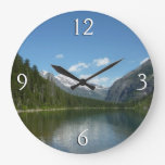 Avalanche Lake I in Glacier National Park Large Clock
