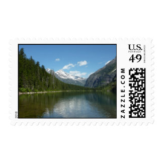 Avalanche Lake I in Glacier National Park Postage Stamp