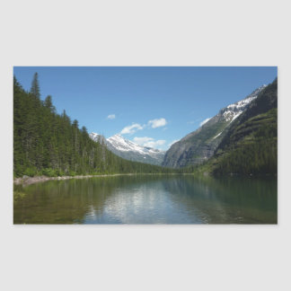 Avalanche Lake I in Glacier National Park Rectangular Sticker