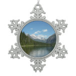 Avalanche Lake I in Glacier National Park Snowflake Pewter Christmas Ornament