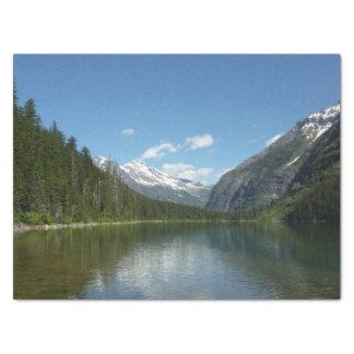Avalanche Lake I in Glacier National Park Tissue Paper