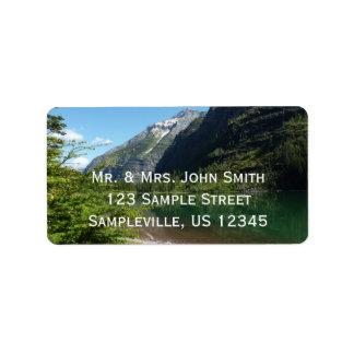 Avalanche Lake II in Glacier National Park Label