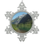 Avalanche Lake II in Glacier National Park Snowflake Pewter Christmas Ornament