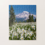 "Avalanche lilies and Mount Rainier 2 Jigsaw Puzzle<br><div class=""desc"">Jaynes Gallery / DanitaDelimont.com 
