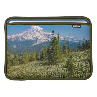 Avalanche lilies and Mount Rainier MacBook Sleeves