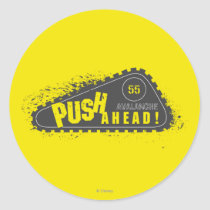 Avalanche Push Ahead! Classic Round Sticker