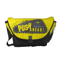 Avalanche Push Ahead! Messenger Bag at Zazzle