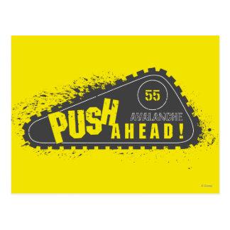 Avalanche Push Ahead! Postcard
