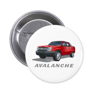 Avalanche Red Pinback Button