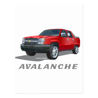 Avalanche Red Postcard