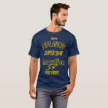 """Avalanche Super Bar Marquette - Gold on Blue T-Shirt<br><div class=""""desc"""">The classroom is where we&#39;d get our degrees, but the &#39;Lanche was where we got our _education_. The physical location is gone, but the beer slides, mug club and RW&amp;B live on in us all. Show your Warrior pride from back when bars were bars and dodging traffic was just getting...</div>"""