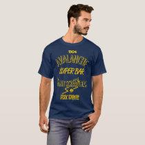 Avalanche Super Bar Marquette - Gold on Blue T-Shirt