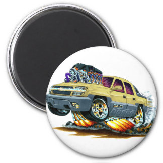 Avalanche Tan Truck 2 Inch Round Magnet