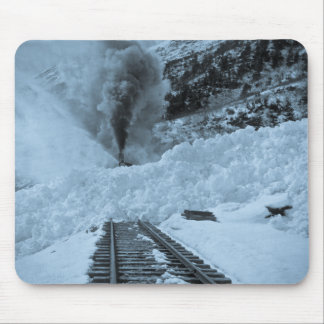 Avalanche Train Tracks Mouse Pad