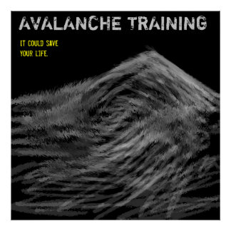 Avalanche training poster