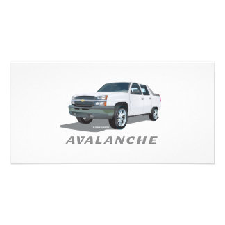 Avalanche White Photo Card