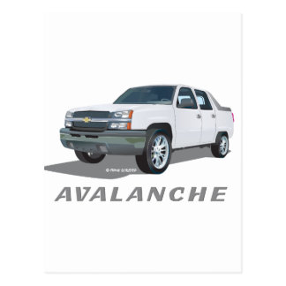 Avalanche White Postcard