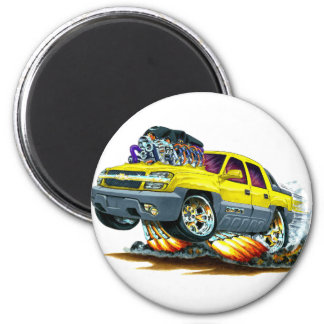 Avalanche Yellow Truck 2 Inch Round Magnet