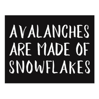 Avalanches are Made of Snowflakes, Left Message Postcard
