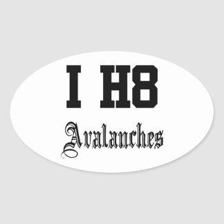 avalanches oval sticker