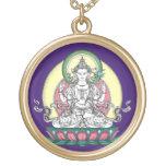 Avalokiteshvara (tib. Chenrezig) - compasión Buda Colgante Redondo