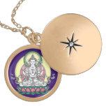 Avalokiteshvara (tib. Chenrezig) - compasión Buda Medallón