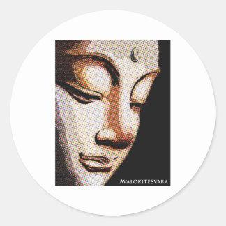 Avalokitesvara Classic Round Sticker