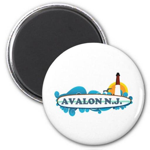 Avalon. 2 Inch Round Magnet