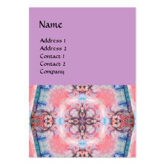 AVALON 4, azul púrpura rosado Tarjetas De Visita Grandes