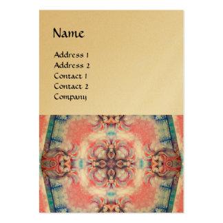 AVALON 4, oro azul púrpura rosado metálico Tarjetas De Visita Grandes