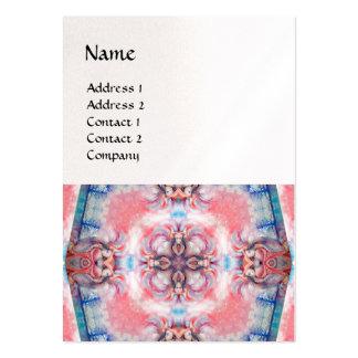 AVALON 4, papel azul púrpura rosado de la perla Tarjetas De Visita Grandes