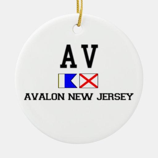 Avalon. Adorno Navideño Redondo De Cerámica
