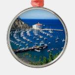 Avalon Harbor Catalina Metal Ornament