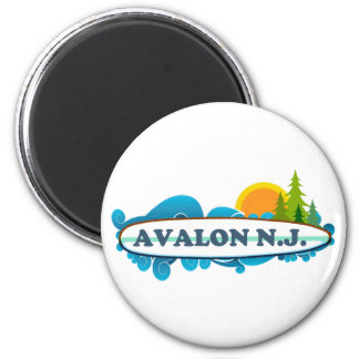 Avalon. Imán Redondo 5 Cm