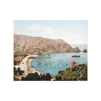 Avalon, isla 1901 de Catalina Impresión En Lienzo Estirada