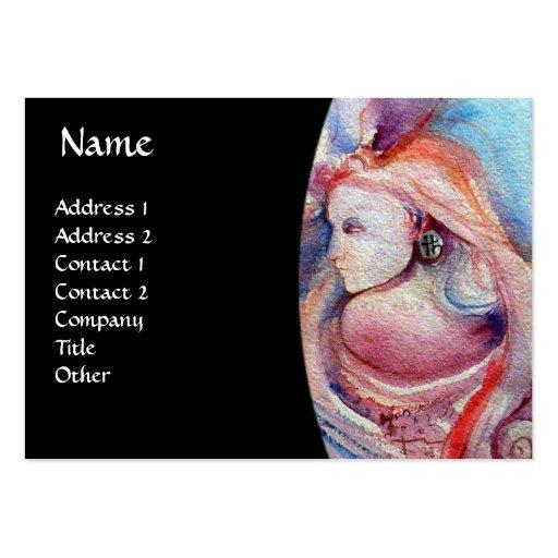 AVALON Magic and Mystery gem  monogram black Business Card Template