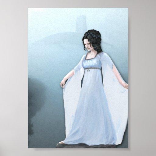 Avalon Mist Goddess Art Print Poster