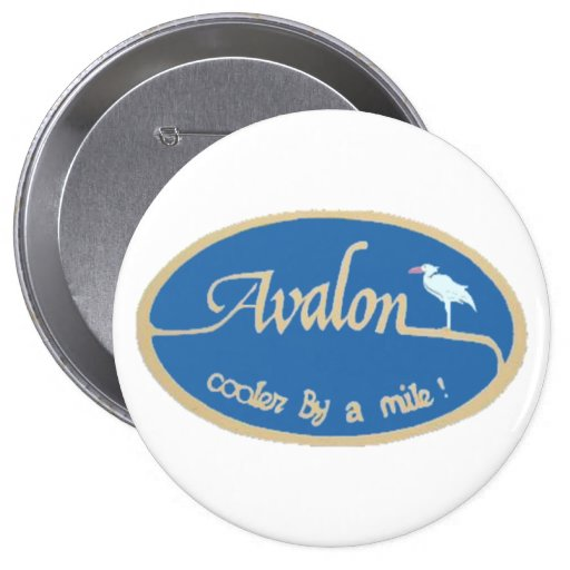 Avalon NJ Pinback Button