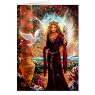Avalon por el iris de Lisa Tarjeta