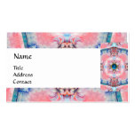 AVALON PSYCHEDELIC MONOGRAM blue Double-Sided Standard Business Cards (Pack Of 100)
