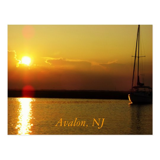 Avalon Sunset Postcard