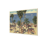 Avalon View of Beach w/ Sunbathers Gallery Wrapped Canvas