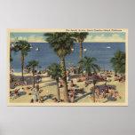 Avalon View of Beach w/ Sunbathers Print