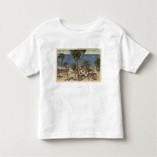 Avalon View of Beach w/ Sunbathers Toddler T-shirt