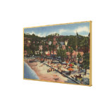 Avalon View of Crescent Ave. & Beach Canvas Print