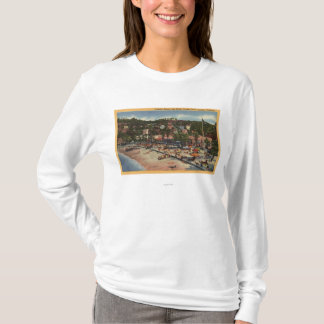 Avalon View of Crescent Ave. & Beach T-Shirt