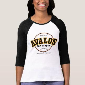Avalos for Mayor - Baseball TShirt -3/4 sleeves